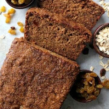 Oatmeal Raisin Quick Bread