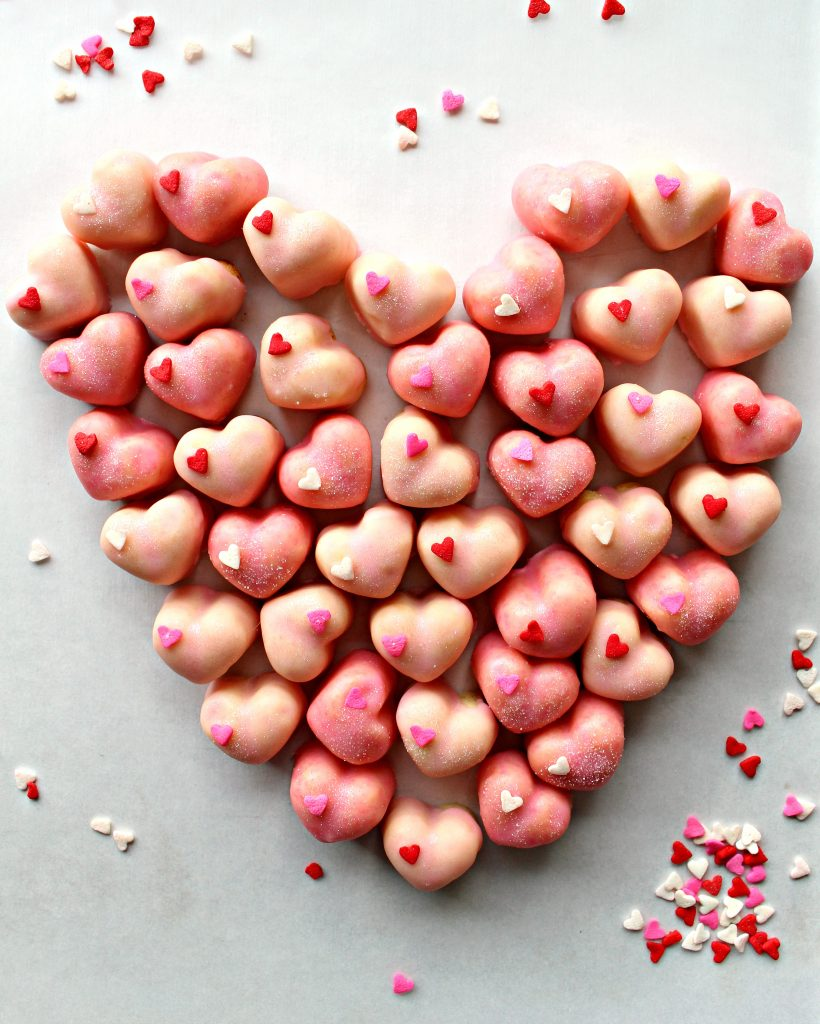 Iced Sugar Cookie Hearts are bite-sized love. Share your love and caring with these sweet, crunchy treats.