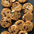 Flourless S'mores Peanut Butter Cookies