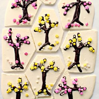 Spring Blossoms White Chocolate Bark