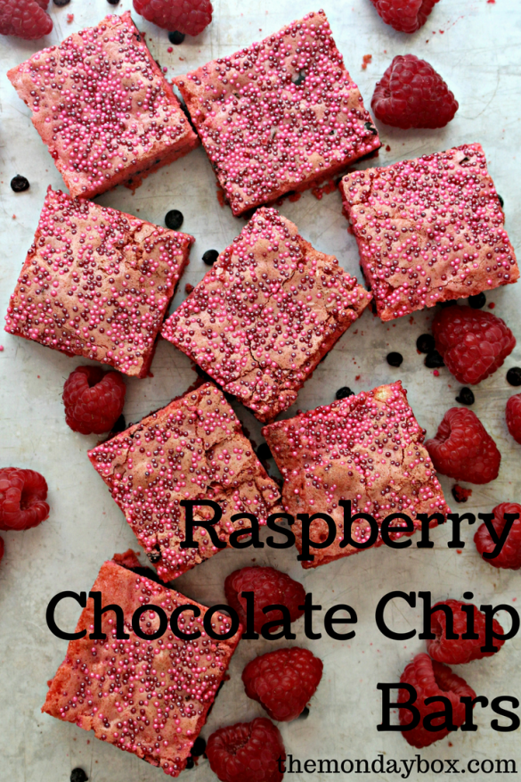 Raspberry Chocolate Chip Bars