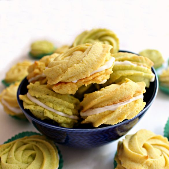Lemon and Lime Butter Cookie Rosettes