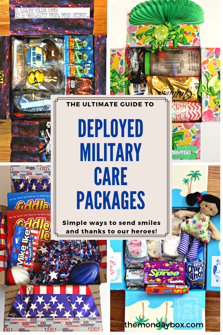 Deployed Military Care Package The Monday Box