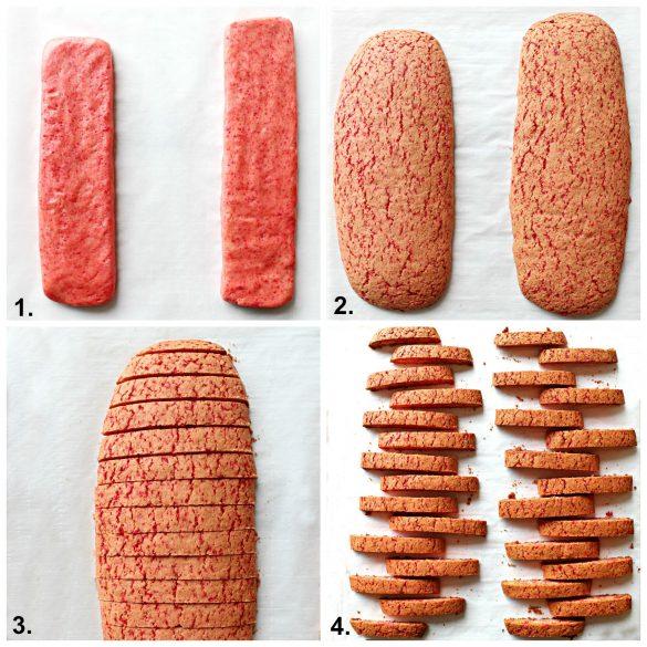 4 steps to making biscotti