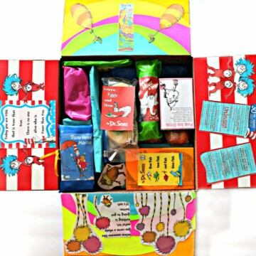 Dr. Seuss care package filled