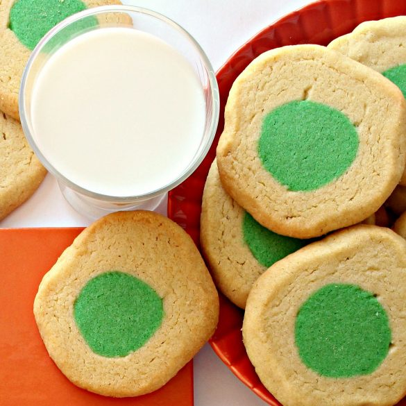 Green Eggs and Ham Cookies and glass of milk