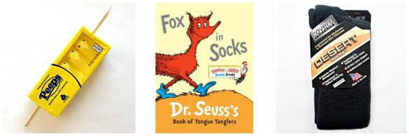 Fox in Socks book and gifts