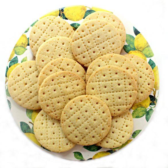 Shrewsbury Biscuits on a round platter