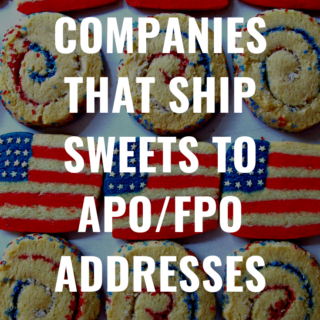 Red, white and blue cookies with title text overlay