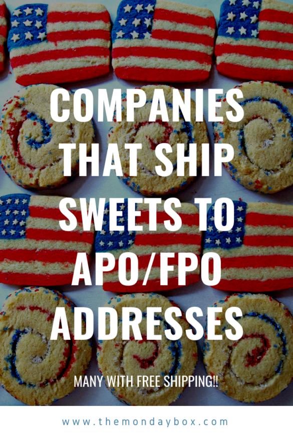 text in front of flag cookies