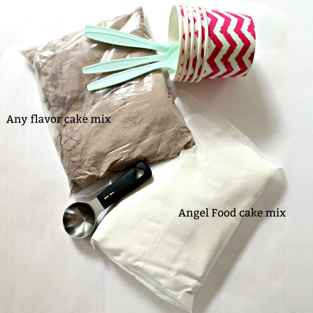 Recipe ingredients with text labels
