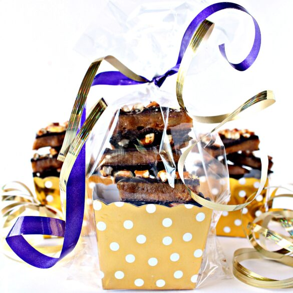 stacks of candy wrapped for gifting