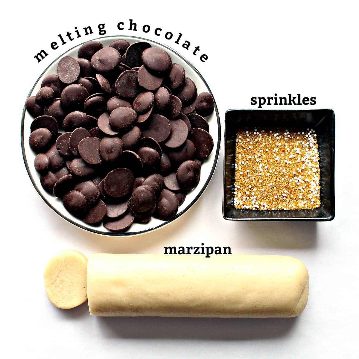 recipe ingredients with labels